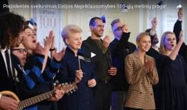 Estijai – originalus šimtmečio sveikinimas iš Lietuvos