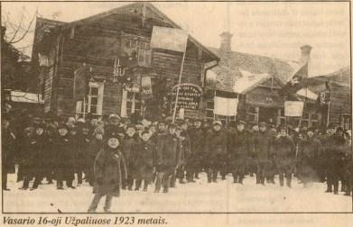 Vasario 16-oji Užpaliuose 1923 metais