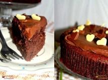 Šokoladinis burokėlių pyragas su šokoladiniu avokadų kremu