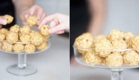 Trupininiai sausainiai su saldintu sutirštintu pienu