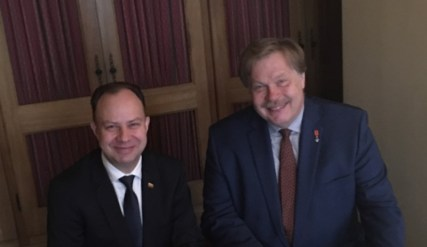 Susitikimas su LR sveikatos apsaugos ministru Aurelijumi Veryga