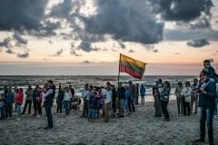 Baltijos jūros pakrantę nušvietė šimtmečio laužai