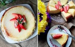 Varškės pyragas su mandarinų sultimis