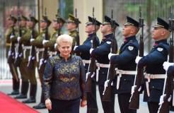 """Prezidentė D. Grybauskaitė: """"Atsakomybės našta lydi prezidentą kiekvieną minutę"""""""