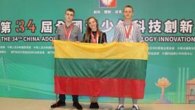 Mokslo ir technologijų inovacijų konkurse Kinijoje lietuviai užėmė trečiąją vietą