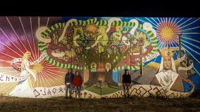 Melnragėje jaunieji menininkai įamžino pajūrio legendas