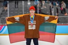 A. Seniuto triumfas ir pirmasis Lietuvos medalis jaunimo žiemos olimpinių žaidynių istorijoje