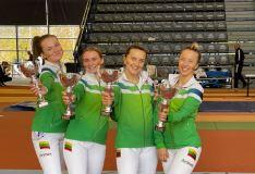 Lietuvos fechtuotojos varžybose Suomijoje iškovojo aukso medalius