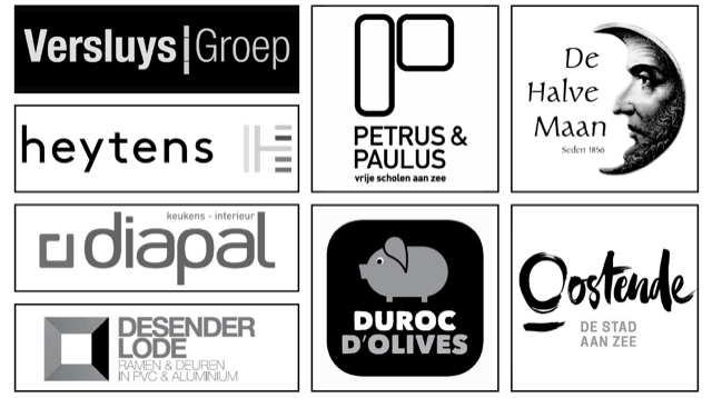 Versluys Groep, Heytens, Diapal keukens, Desender Lode, Duroc D'olives, Petrus & Paulus, De halve maan, Stad Oostende