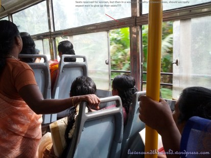 ladies only side on bus