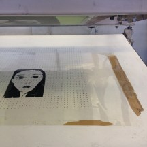 6. To make life easier, place a acetate and print your image on it for alignment for subsequent printing