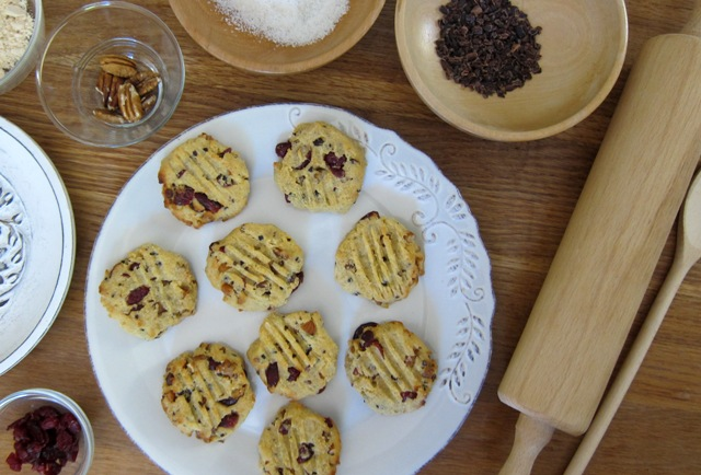 Pecan, Almond & Cranberry Choc-Chip Cookies