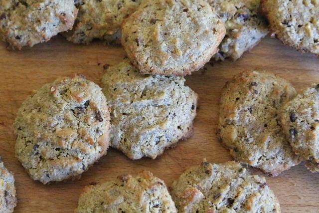 Hazelnut Chocolate Chip Cookies (grain-free, gluten-free, sugar-free, dairy-free)