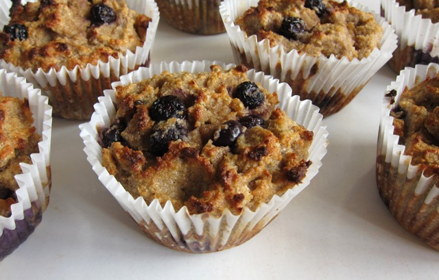 Healthy Blueberry & Banana Muffins (grain-free, gluten-free, sugar-free)