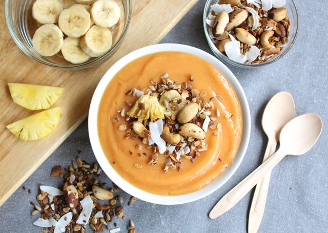 Tropical Smoothie Bowl (sugar-free, dairy-free, soy-free, gluten-free)