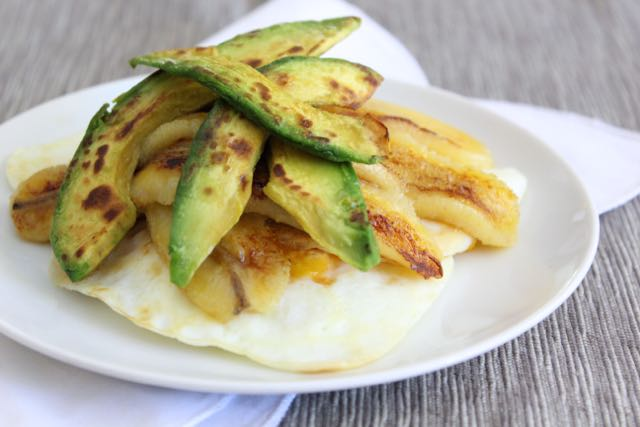 Fried Egg, Banana & Avocado Stack