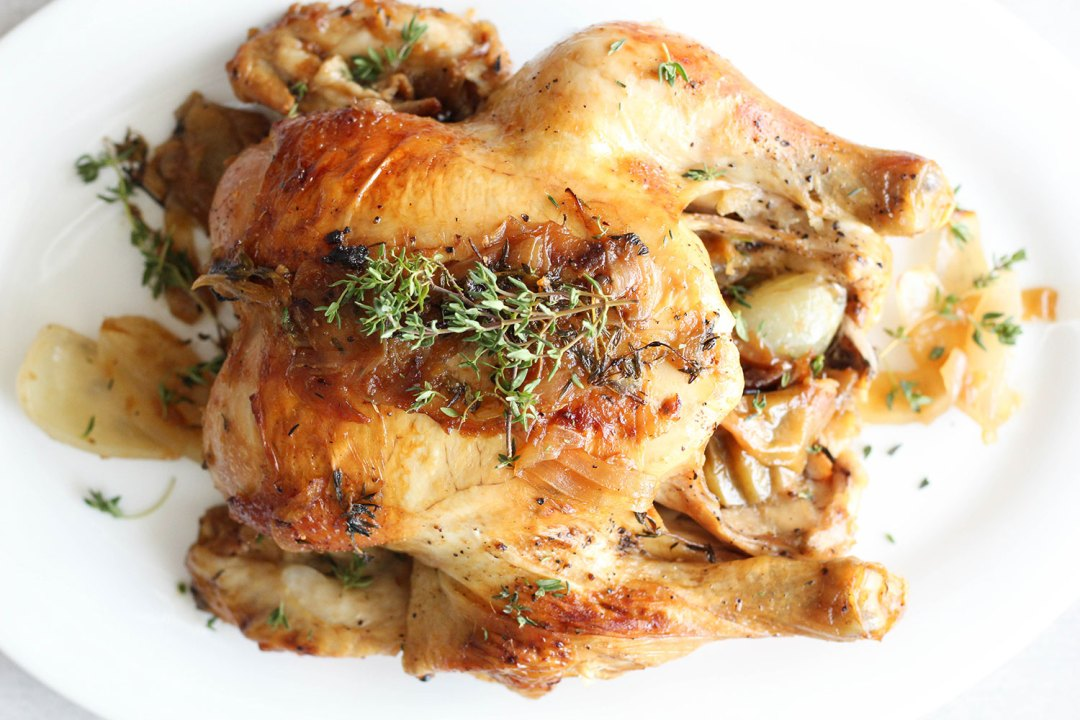 MY FAVORITE HEALTHY ROAST CHICKEN & GRAVY RECIPE