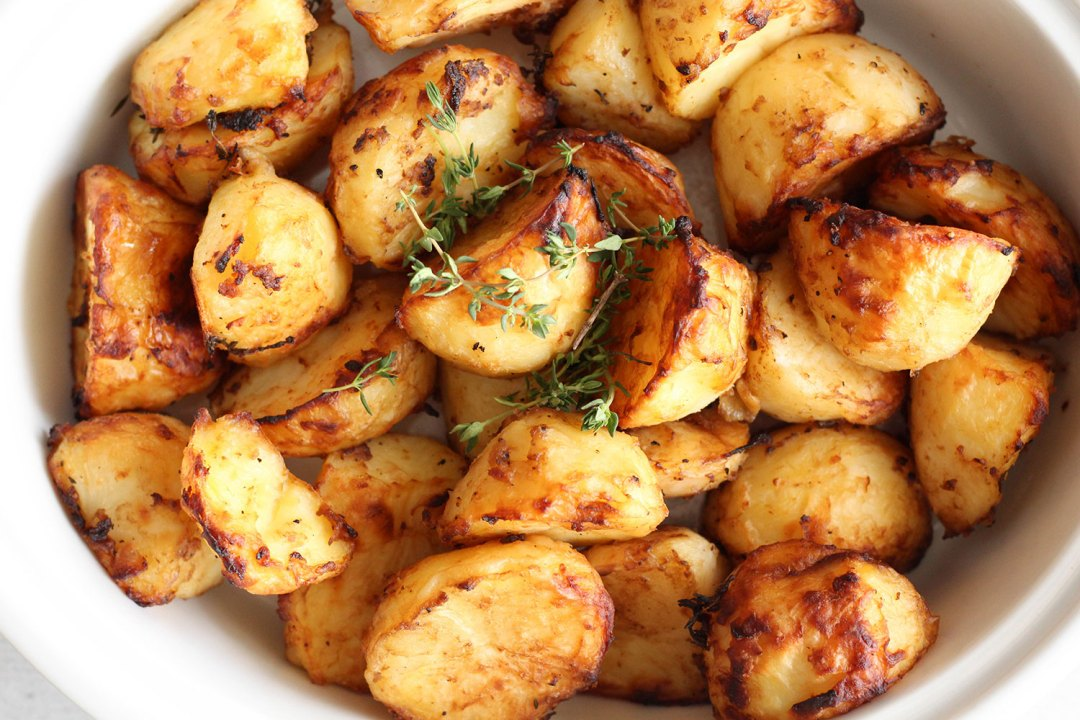 HEALTHY CRISPY ROAST POTATOES RECIPE