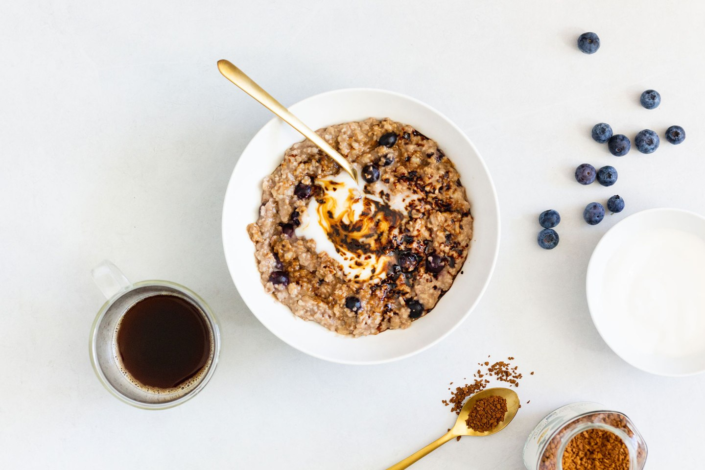 Coffee Blueberry Oatmeal (gluten-free, dairy-free, vegan)
