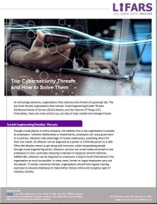 Top Cybersecurity Threats and How to Solve Them by LIFARS