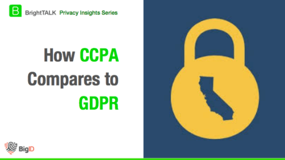 BrightTALK How CCPA Compares to GDPR