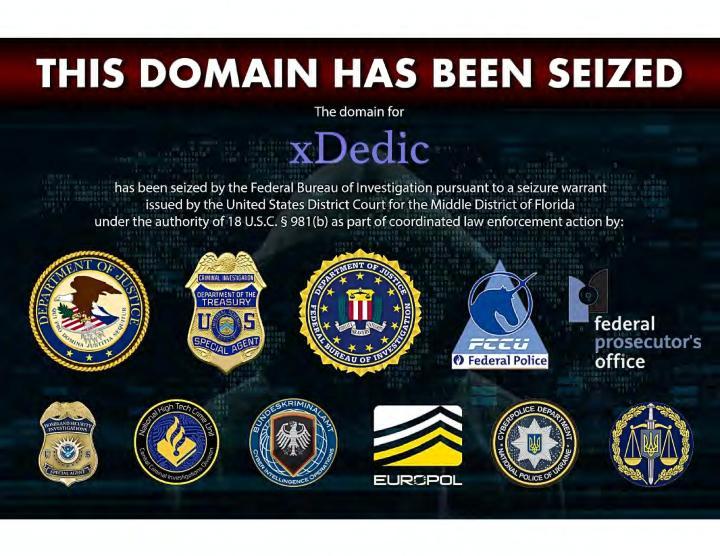 Authorities Shutdown XDedic Marketplace