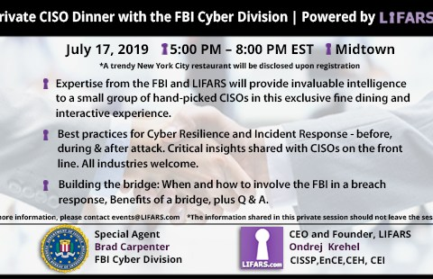 Private CISO Dinner with the FBI Cyber Division | Powered by LIFARS