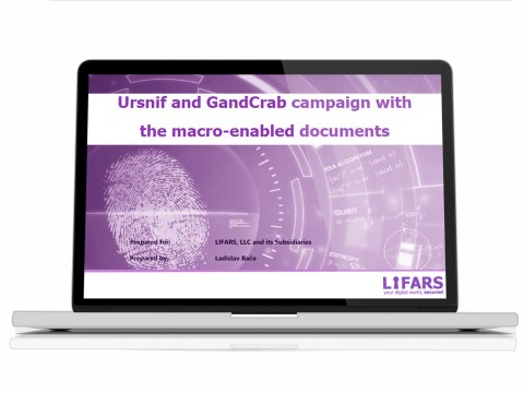 Ursnif and GandCrab campaign with the macro-enabled documents