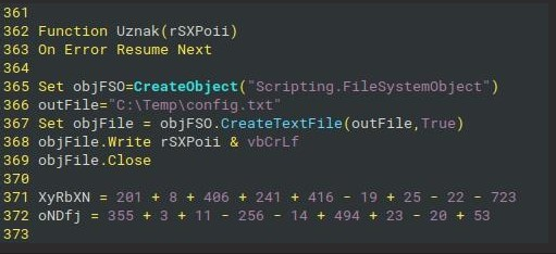 Figure 3- Function to dump de-obfuscated code into file.
