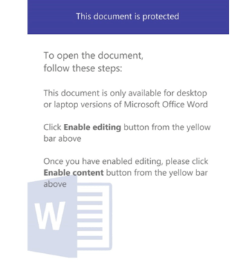An example of a malicious document