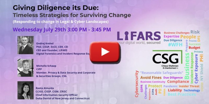 Giving Diligence its Due Webinar - Timeless Strategies for Surviving Change