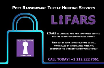 LIFARS is offering new and innovative service for the victims of ransomware attacks