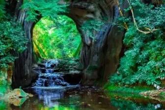 濃溝の滝ハート