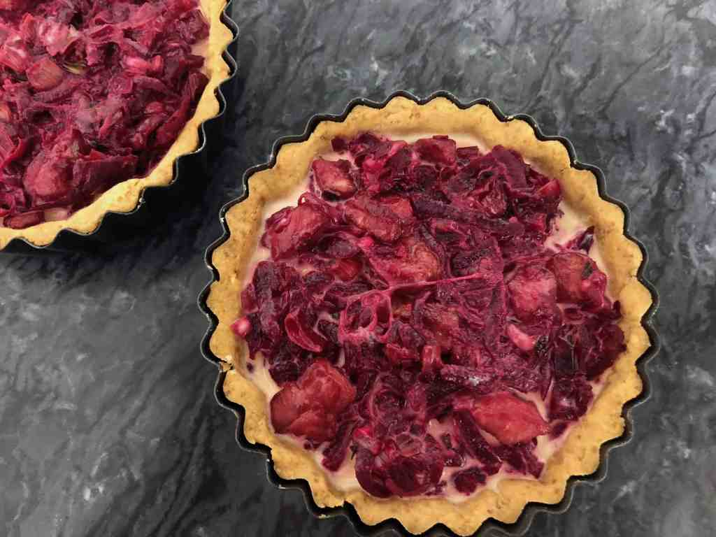 Beetroot and Bacon Quiche - Custard Filling