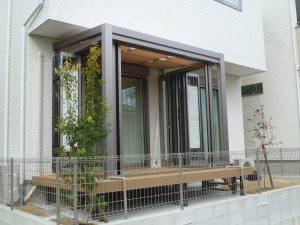 岡崎市エクステリア外構庭とお部屋をつなげるガーデンルームが演出するくつろぎ空間