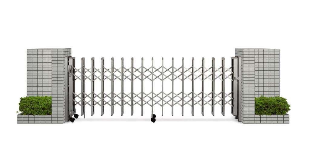 環境に合わせて設置できる伸縮門扉の種類 YKK AP:レイオスシリーズ|愛知県知立市を中心に三河地区№1スタッフ数のエクステリア・外構 ライフ・ランド