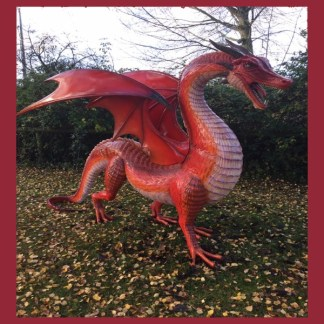 Red Dragon Large 3D Realistic Figure