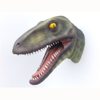 Realistic Models Sculpture Life Sized Model Life Size Replica statue cars Replica Models Dinosaurs life size figurines Albashed Alba shed Raptor Head 2307-alba-shed-dinosaurs-direct-lifesize-models-wales