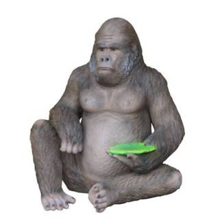 Realistic Models Sculpture Life Sized Model Life Size Replica statue cars Replica Models Dinosaurs life size figurines Albashed Alba shed Gorilla Seat 3176