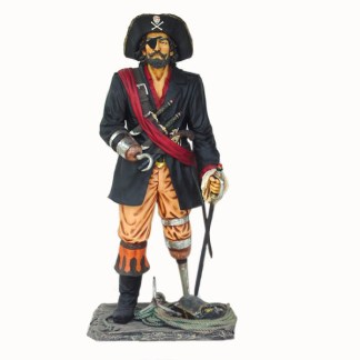 Pirate Captain Life Size Models Realistic Models Sculpture Life Sized Model Life Size Replica statue cars Replica Models Dinosaurs life size figurines Albshed lifesize models Alba shed leg