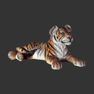 Tiger Cub Lying Realistic Life Size Animal Model