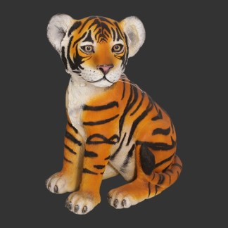 Tiger Cub Sitting Life Size Realistic Animal Model