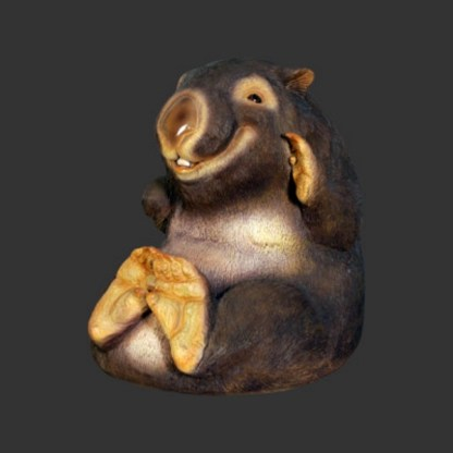 Wombat Sitting Cute Life Size Animal Model