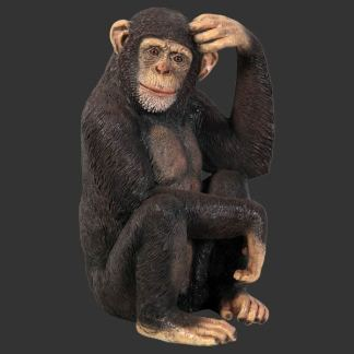 Chimp Statue Life Size Wild Animal Model