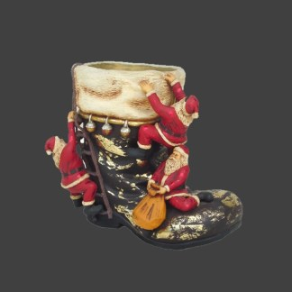 Santa Boot Tree Holder 3D Realistic Christmas Model