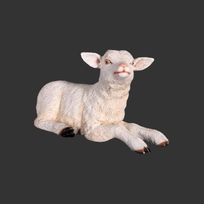 Goat Kid Resting Life Size 3D Realistic Statue