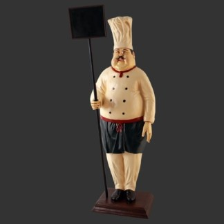 Chef Menu Board 3d Realistic Figure