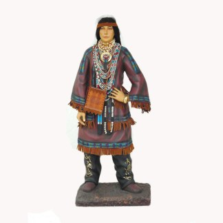 Native American Woman 3ft 3D Realistic Figure