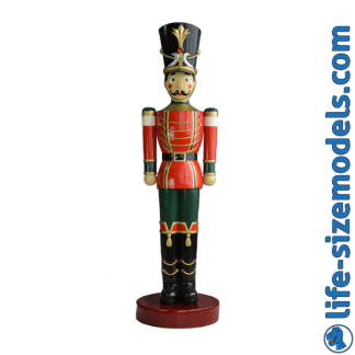 Toy Soldier 6.5ft Figure 3D Realistic Lifesize Christmas Prop