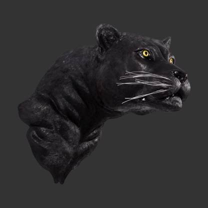 Black Panther Head 3D Realistic Life Size Model